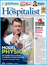 "Screen Shot of ""The Hospitalist"" magazine"