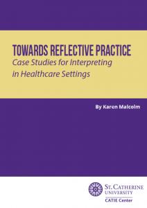 """Cover of """"Toward Reflective Practice"""" workbook by Karen Malcom"""